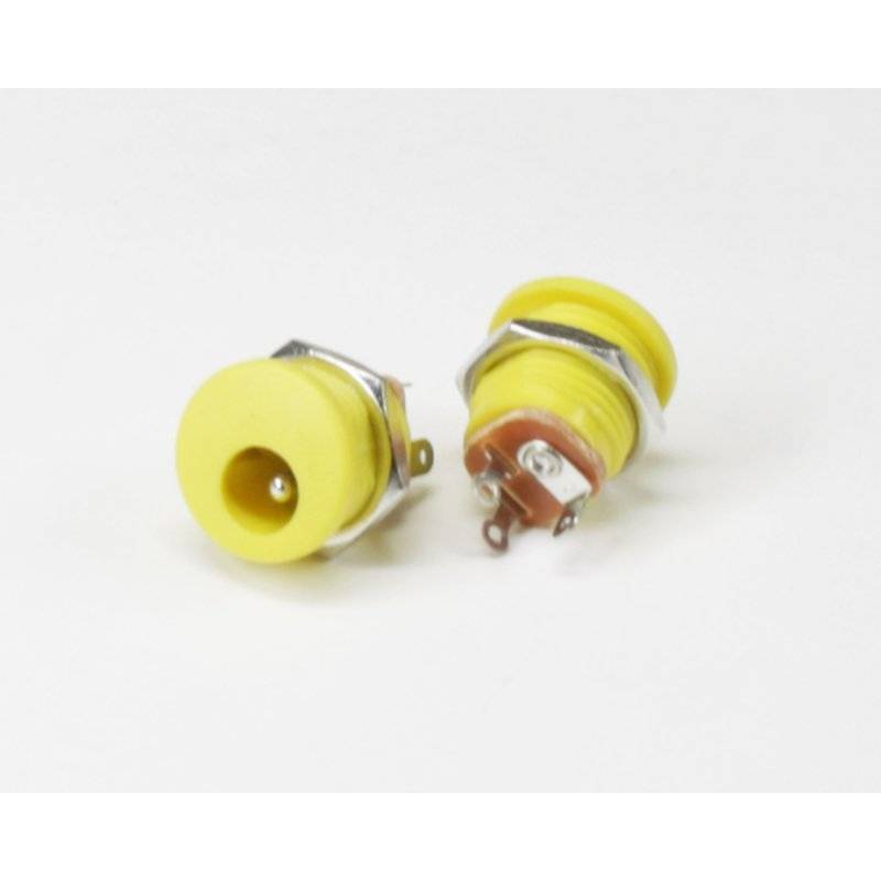 DC Power  Connector 2,1 x 5,5mm Yellow