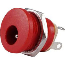 DC Power Connector 2,1 x 5,5mm Rood