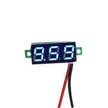 DC Voltmeter 0.28inch 3.5-30V 2 draads Blauw