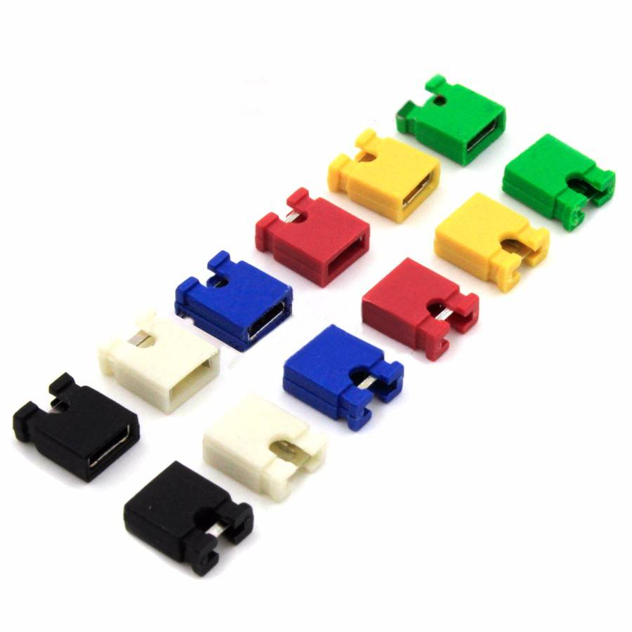 Circuit Board Jumpers different colors 2.54 mm