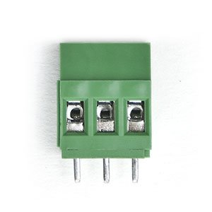 Print connector with screw Terminal 3 pins Green