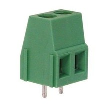 Print connector with screw Terminal 2 pins  Green