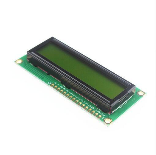 LCD1602 Geel Groen achtegrond