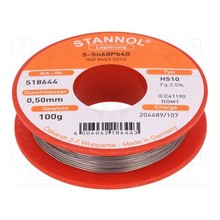Stannol Soldering tin 0.5mm 100gram No. 518644