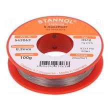 Stannol Soldering tin 0.3mm 100gram No. 543063