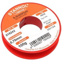 Stannol Soldering tin 0.7 mm 100 gram No. 519242