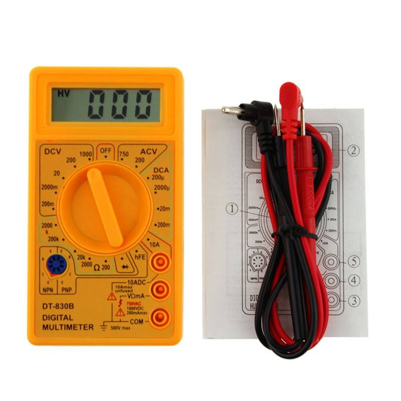 Digital Multimeter DT-830B Yellow