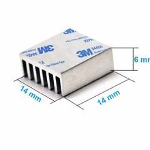 Aluminum heat sink (heatsink) 14 x 14 x 6mm