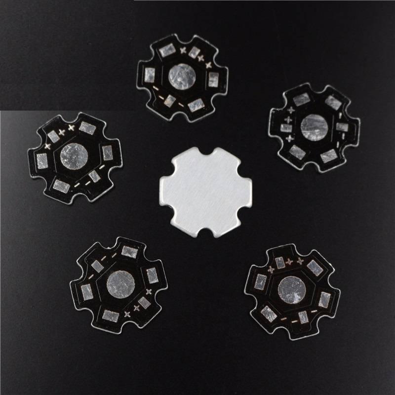Aluminium  koellichaam/basisplaat voor de high power leds 1/3/5 watt