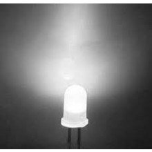 5mm Round Led White Diffused Cold White