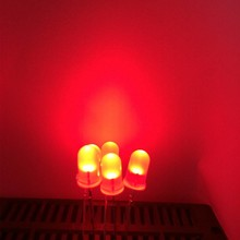 5mm Led Rood  Wit Diffuus