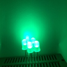 5mm Led Green White Diffuse