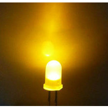 5mm Led Yellow White Diffuse
