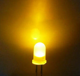 5mm Round Led White Diffused Yellow