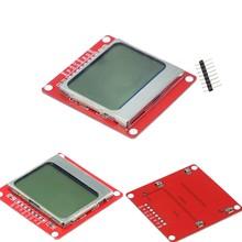 5110 LCD Screen voor arduino met een blauwe achtergrond