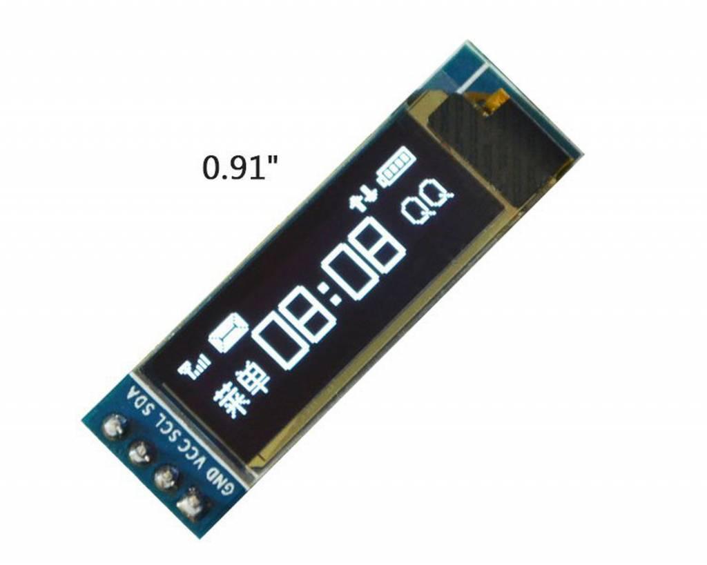 0.91 inch Oled Screen White I2C