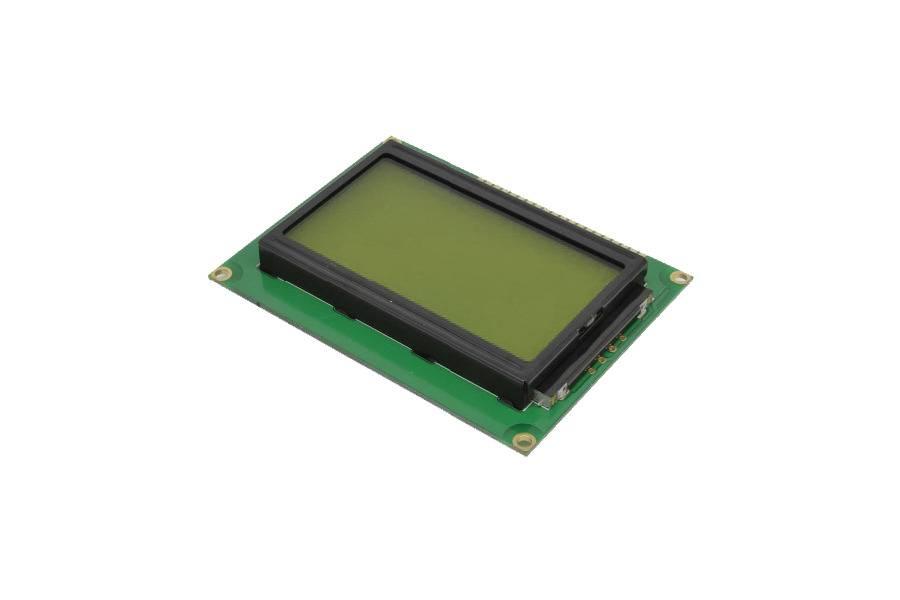 LCD Scherm ST7920 LCD module Geel/Groen