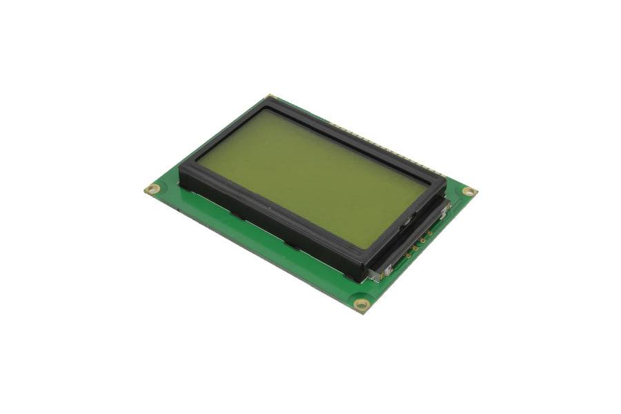LCD screen ST7920 LCD module Yellow / Green