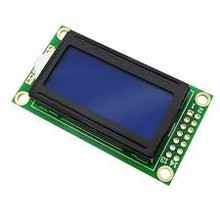 LCD 0802 Blauwe achtergrond
