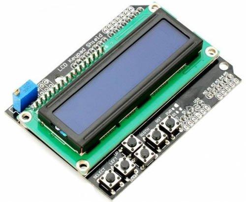 LCD Shield 2 x 16 Karakters met blauwe achtergrond