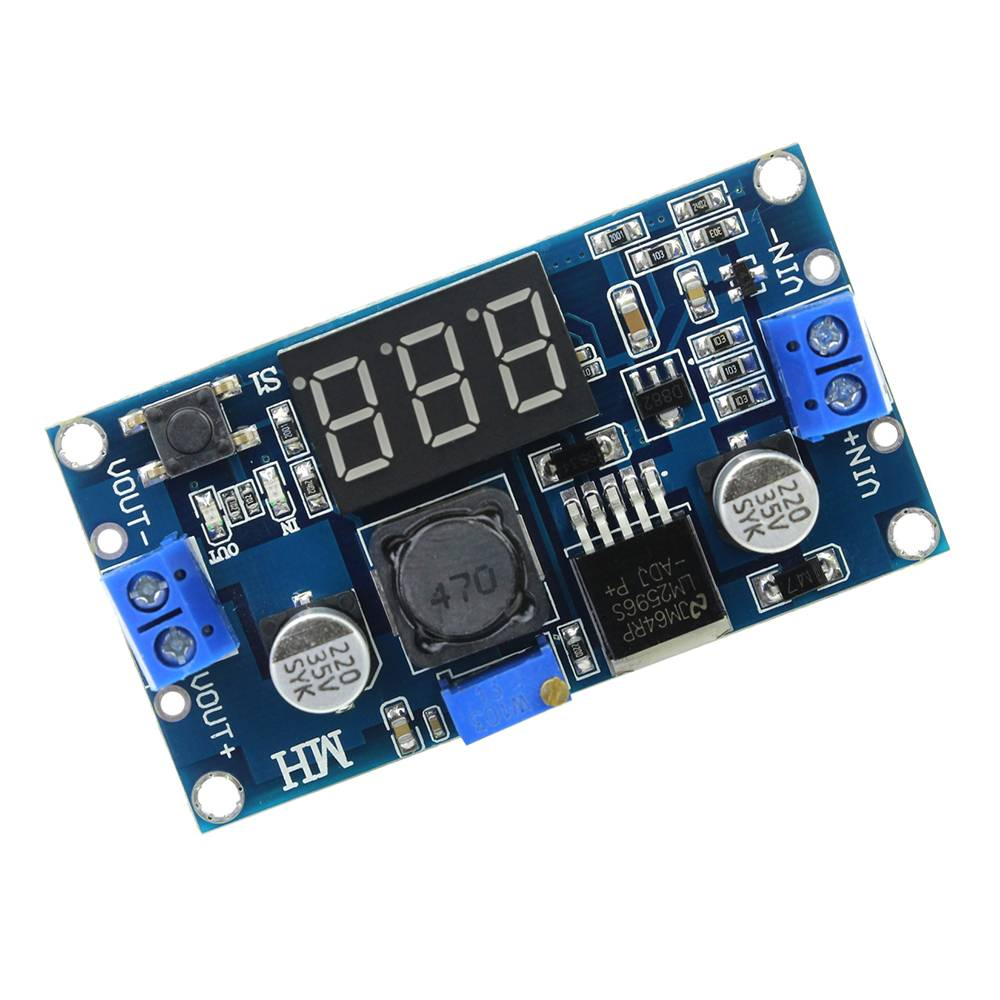 LM2596 step down converter with voltmeter