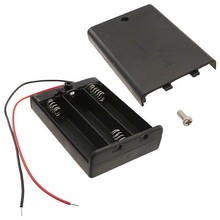 COMF 3x 1,5V AA Batterijhouder met deksel en schakelaar