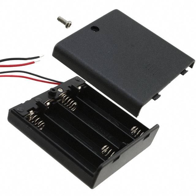 COMF 4x 1,5V AA Batterijhouder met deksel en schakelaar
