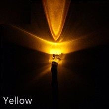 5mm Pre Wired led Yellow Clear
