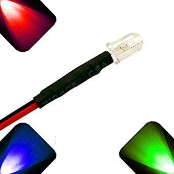 5mm Pre Wired led RGB Flash Fast clear