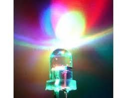 5mm Round Led RGB Fast Flash Clear