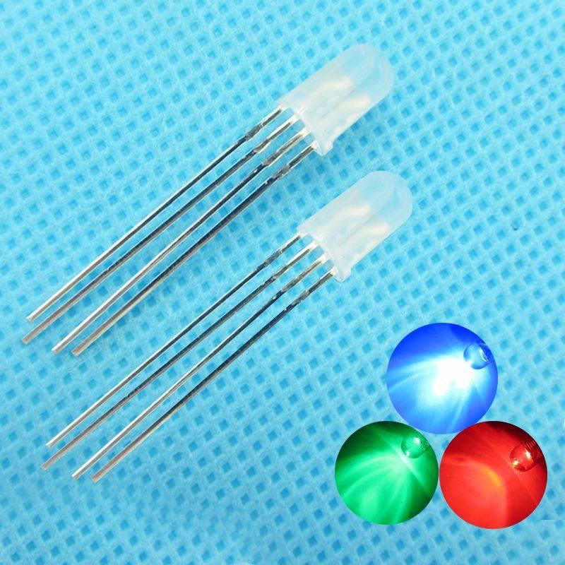 5mm Ronde Led Common Cathode Diffuus RGB
