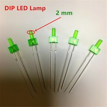 2mm Led Flat Top Colored Diffused Green