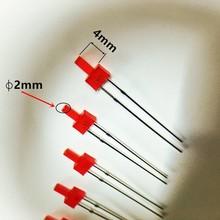2mm Led Flat Top Gekleurd Diffuus Rood