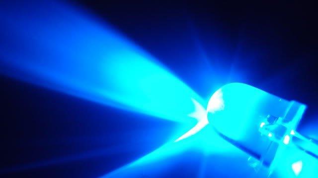 10mm Round Led Blue Clear 0.5 Watt