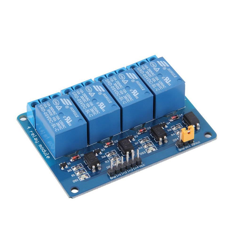 4 kanaals 12v DC Relais Module