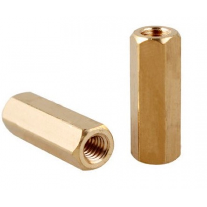 Brass Spacer M3x4mm 2x female