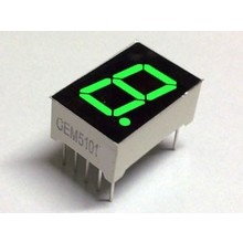 "7 Segment Display Green, 0.56 ""CC"