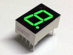 """7 Segment Display Groen, 0.56"""" Common Anode"""