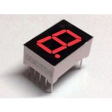 "7 Segment Display Red, 0.56 ""CC"