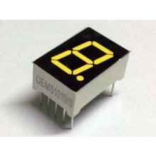 "7 Segment Display Yellow, 0.56 ""CC"