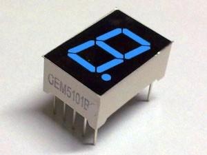 """7 Segment Display Blue, 0.56 """"Common Cathode"""