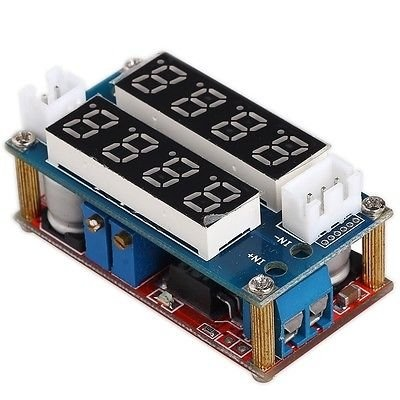 Mini Adjustable Power Supply with CC / CV, dual display and data read option