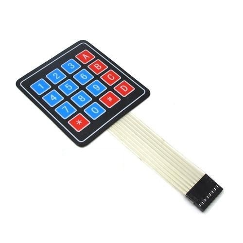 4 x 4 Membrane Keypad with 16 Characters