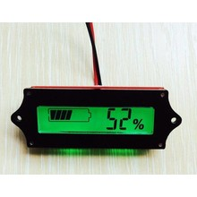 Battery Capacity meter, 12 Volt with green illuminated LCD display