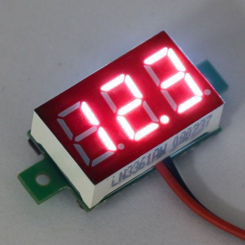 "Mini Voltmeter Red 3 to 30 Volt DC 0.36 """