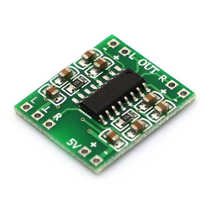 Mini Amplifier 2 x 3 Watt PAM8403 Green, Small