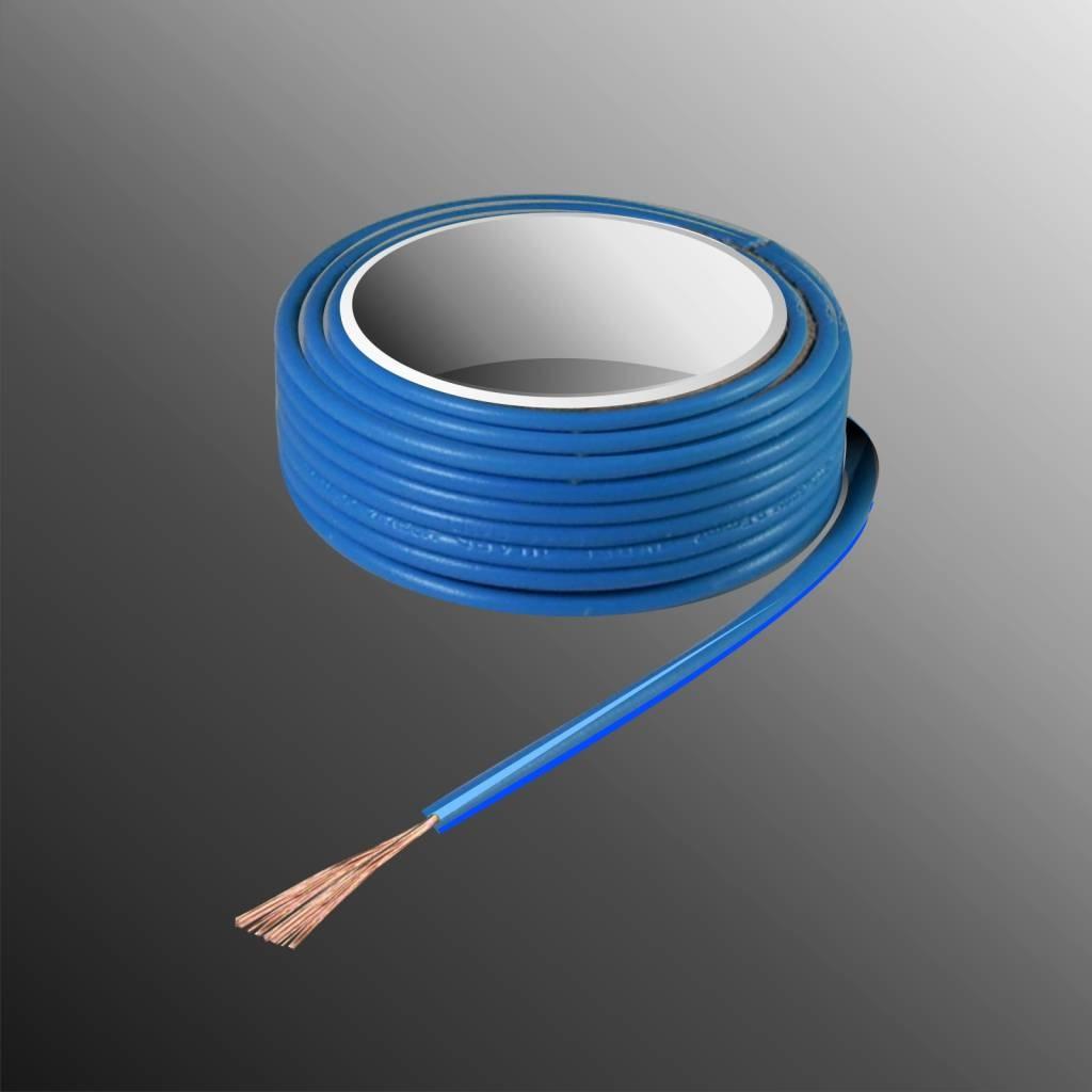 HELUKABEL  Project Wire H05V-K 2.5 x 0.5mm², Fiber Fiber Core, Fire Retardant - Blue