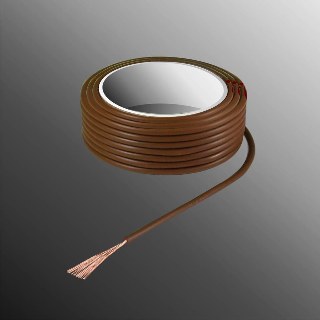 HELUKABEL  Project Wire H05V-K 2.5 x 0.5mm², Fiber Fiber Core, Fire Retardant - Brown