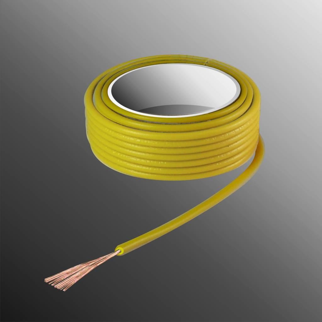 HELUKABEL  Project Wire H05V-K 2.5 x 0.5mm², Fiber Fiber Core, Fire Retardant - Yellow