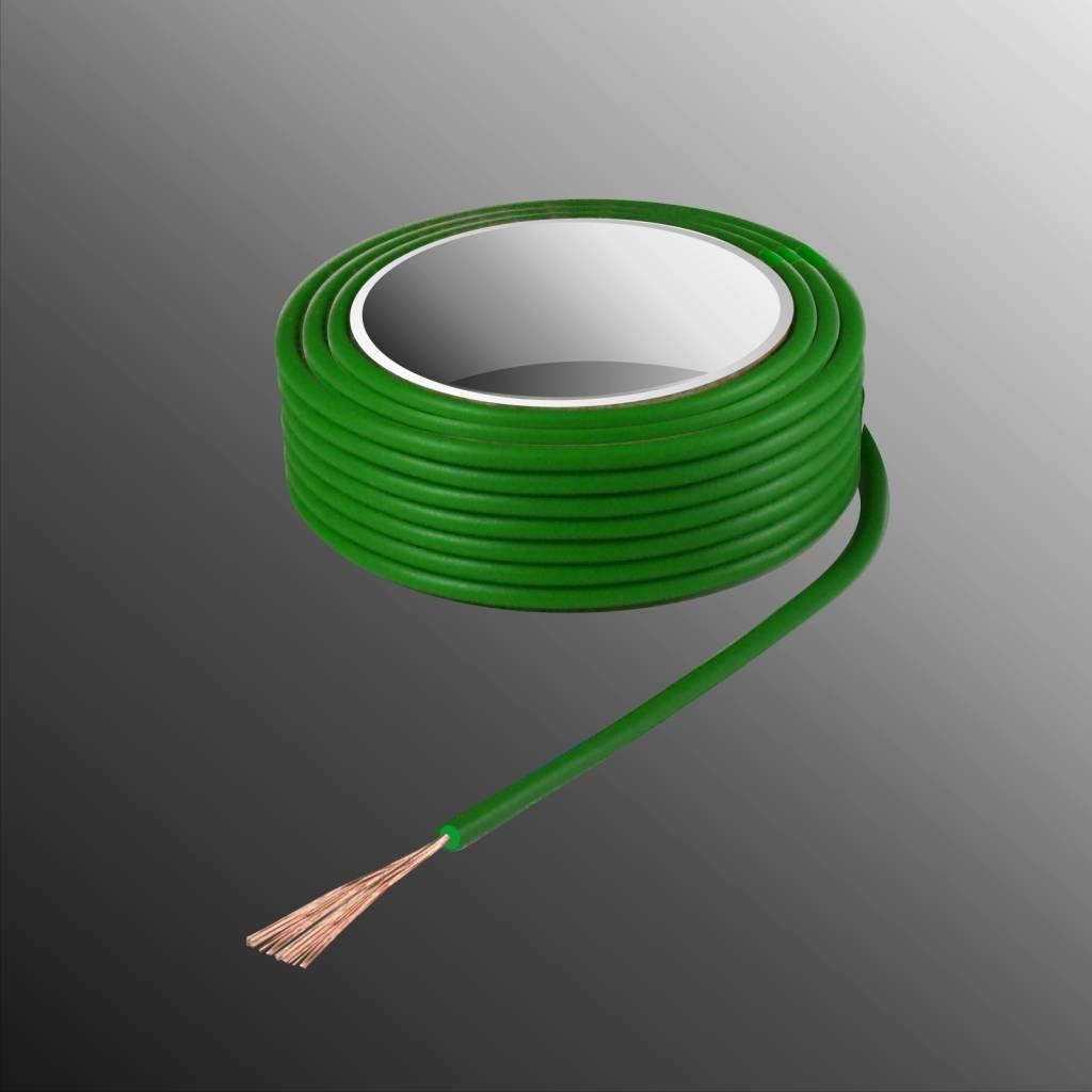 HELUKABEL  Project Wire H05V-K 2.5 x 0.5mm², Multi-fiber Core, Fire Retardant - Green